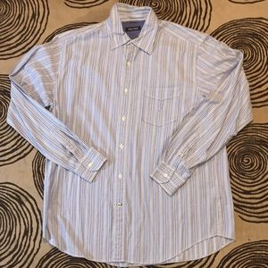 Men's nautica large long sleeve striped blue